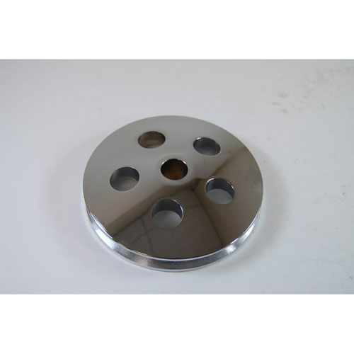TYPE II POWER STEERING PUMP PULLEY - CHROME