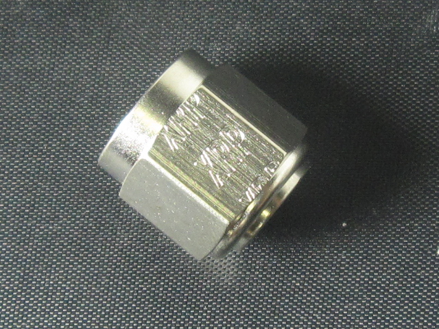 -3 Nut, Tube Coupling 1 Pc.) - Aluminum - Super Nickel Plated